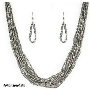 NEW Paparazzi Speed of Starlight Necklace Earrings